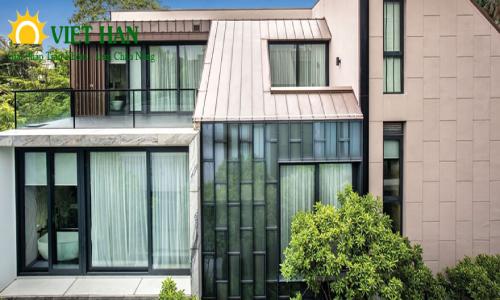 Sử dụng cửa nhôm kính cao cấp trong thiết kế nội ngoại thất